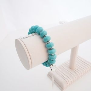 Lucky Brand Turquoise Beaded Stretch Bracelet NWT